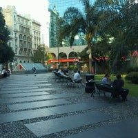 Photo taken at Plaza Fabini by Pablo V. on 12/2/2011