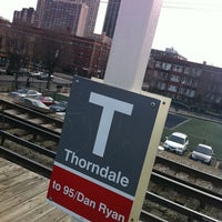 Photo taken at CTA - Thorndale by Rick R. on 4/13/2011