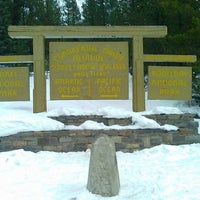 Photo taken at Continental Divide - Alberta/BC Border by Scenic Travel Canada on 4/7/2012