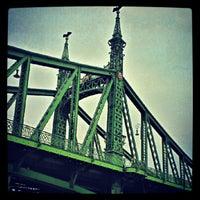 Photo taken at Liberty Bridge by Balazs S. on 9/4/2012
