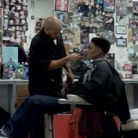 Photo taken at Fields Good Barber And Beauty Shop by Karlett D. on 11/10/2011