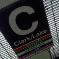 Photo taken at CTA - Clark/Lake by Vincent J. on 4/11/2011