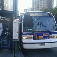 Photo taken at MTA Bus - Worth St & Mott St (M9/M22/M103) by 🚄✈️ Jon ✈️🚄 on 11/2/2011