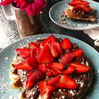 Photo taken at Waffle Era Tea Room by Charo H. on 4/22/2012