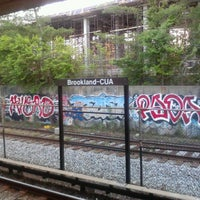Photo taken at Brookland-CUA Metro Station by Mario W. on 5/26/2012