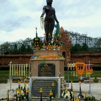 Photo taken at Statue of Queen Chamadevi by Muzic A. on 8/12/2012