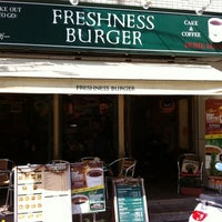 Photo taken at Freshness Burger by Andrea R. on 10/4/2011