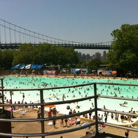 Photo taken at Astoria Park Pool by Georgio A. on 7/5/2012
