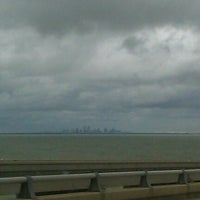 Photo taken at Lake Pontchartrain Causeway by Trudy J. on 9/5/2011