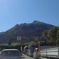 Photo taken at Gotthard Strassentunnel by Isabel K. on 7/23/2012