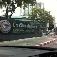 Photo taken at Bangkok University by Jureepan N. on 5/18/2012