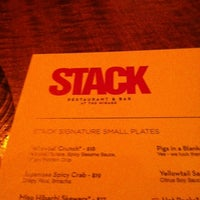 Photo taken at STACK Restaurant & Bar by MasonLV on 3/14/2012
