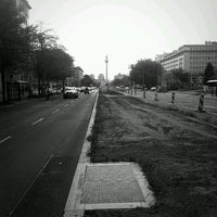 Photo taken at Karl-Marx-Allee by bnz on 4/30/2012