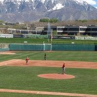 Photo taken at Brent Brown Ballpark by Susan G. on 4/21/2012