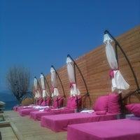 Photo taken at Bikini Beach Bar by Stamatis L. on 8/5/2012