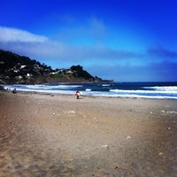 Photo taken at Pacifica State Beach by Maxence D. on 5/31/2012