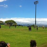 Photo taken at Eddie Tam Field and Gym by hnygirl2000 on 6/21/2012