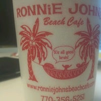 Photo taken at Ronnie Johns Beach Cafe by Justin Y. on 3/12/2012
