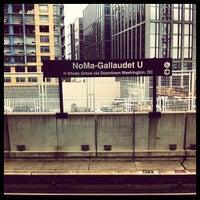 Photo taken at NoMa-Gallaudet U Metro Station by Christopher W. on 8/7/2012