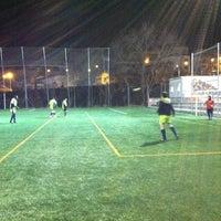 Photo taken at Can Gili, Camp de Futbol Del Finsobe by Leo M. on 2/20/2012