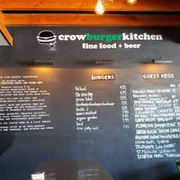 Photo taken at Crow Burger Kitchen by S S. on 6/29/2012