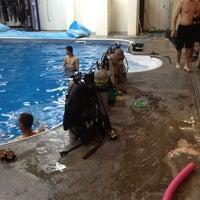 Photo taken at Scuba pool by Cody K. on 2/14/2012