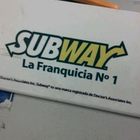 Photo taken at Subway by Gonzalo T. on 2/25/2012