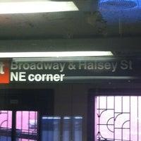 Photo taken at MTA Subway - Halsey St (J/Z) by Raymond D. on 4/24/2012