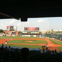 Photo taken at Louisville Slugger Field by Rose on 7/23/2012