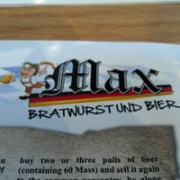 Photo taken at Max Bratwurst und Bier by Julius Erwin Q. on 5/20/2012