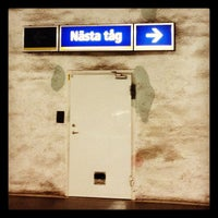 Photo taken at Mörby Centrum T-Bana by Fredrik A. on 8/19/2012