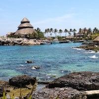 Photo taken at Playa Xcaret by Tafuin on 5/1/2012