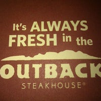 Photo taken at Outback Steakhouse by Adam R. on 9/18/2011