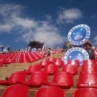 Photo taken at Estádio Joaquim Henrique Nogueira (Arena do Jacaré) by Rafaela A. on 11/20/2011
