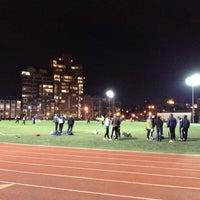 Photo taken at McCarren Park Track by shibani on 2/29/2012