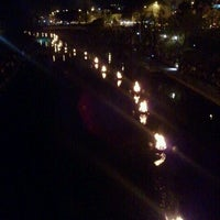 Photo taken at WaterFire Kansas City by Patrick on 10/23/2011