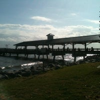 Photo taken at St. Simons Island Pier by Goldie on 4/14/2012