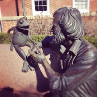 Photo taken at Jim Henson Statue by Amanda B. on 2/3/2012