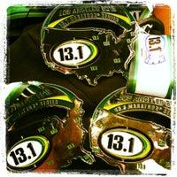 Photo taken at 13.1 LA Marathon by Rhea B. on 1/15/2012