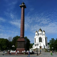 Снимок сделан в Площадь Победы пользователем Olga S. 5/26/2012