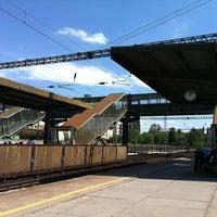 Photo taken at Tatabánya vasútállomás by Viktoria P. on 5/19/2012