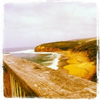 Photo taken at Bells Beach by Luiz Gustavo R. on 4/21/2012