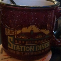 Photo taken at Deluxe Station Diner by Jon B. on 3/30/2012
