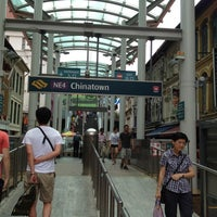 Photo taken at Chinatown MRT Interchange (NE4/DT19) by Ted on 7/29/2012