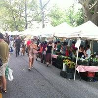 Photo taken at McCarren Park Greenmarket by DJ Cato on 7/14/2012