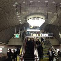 Photo taken at Midosuji Line Shinsaibashi Station (M19) by Mari I. on 3/23/2012
