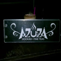Photo taken at Azuza Hookah Lounge & Cafe by Alverrie P. on 9/10/2011