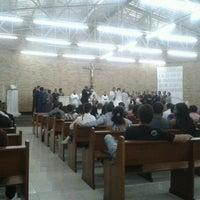 Photo taken at Paróquia Bom Jesus das Oliveiras by Fernando B. on 9/8/2012