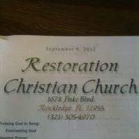 Photo taken at Restoration Christian Church by Scott S. on 9/13/2012