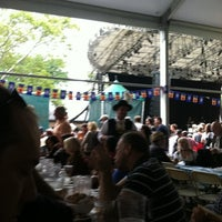 Photo taken at Oktoberfest In Central Park by Travis D. on 9/17/2011